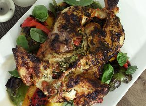 Basil and Feta Stuffed Chicken from the Braai