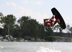 Wakeboarder at Ghaap RiverXtreme
