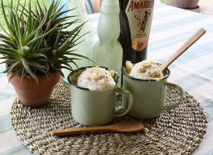 Homemade Amarula and Fudge Ice Cream