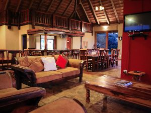 Interior of the lodge.