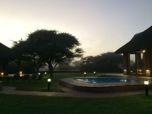 Misty Morning at the Lodge